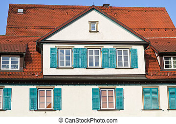 Historic residential house, Germany, town of Schwaebisch...