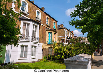 Town houses. London, England - Traditional town houses at...