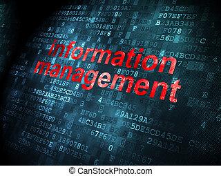 Data concept: Information Management on digital background -...