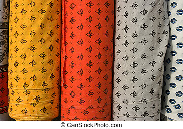 Fabric roll vertical - Rolls of fabric with Provence design