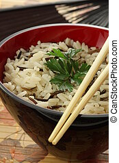 Chinese light dish - Closeup of bowl of chinese light rice