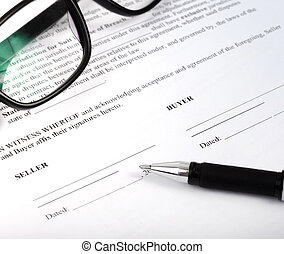 purchase contract or agreement