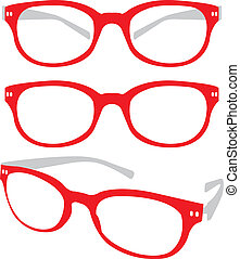 Red Spectacle Vector