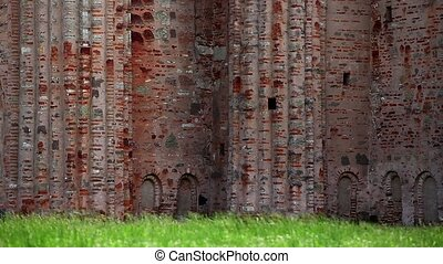 fortress Wall  - HD1080: fortress Wall in Novgorod, Russia.
