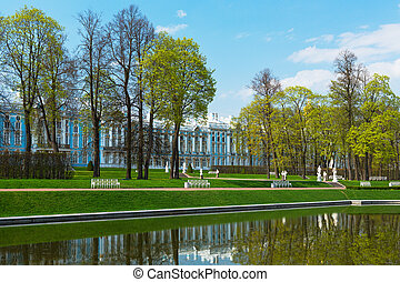 Catherine Palace overview - Catherine Palace with a general...