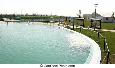 swim pool and jacuzzi - aqua summer fun and joy
