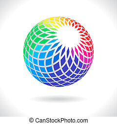Abstract Sphere - Abstract Design Icon Element, Colorful...