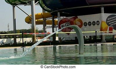 amusement park - aqua summer fun and joy