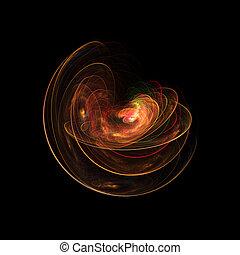 fire galaxy circle layers on dark backgound
