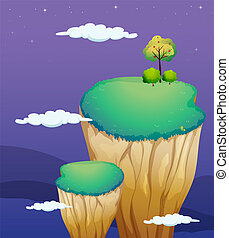 A very high land formation - Illustration of a very high...