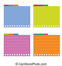 Four Colorful Lined Spiral Notepad Papers with Tabs - A...