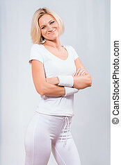 beautiful fitness lady