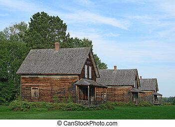 Old wooden country houses