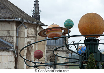 The dummy of the solar system in Amboise. .Valley of the...