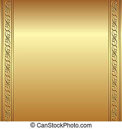 golden background with ornaments
