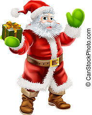 Cartoon Santa Claus - Cartoon illustration of Santa Claus...