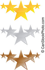 Five Stars Quality Product Vector Illustration