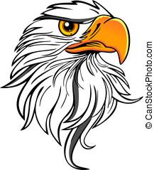 vetorial, -, especiais, águia, cabeça