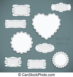 Vintage Frames - Vector set of vintage frames