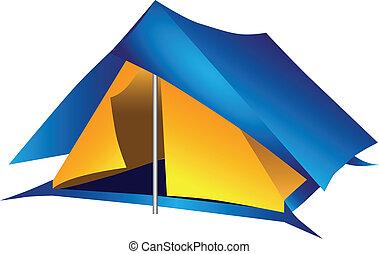 Double tourist tent
