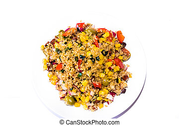 Vegetable cous cous meal - Detail of home made Vegetable...