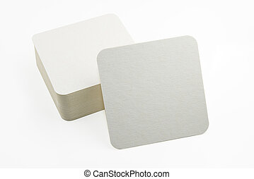 Set of new paper coasters - Stack of new beer coasters...