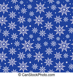 Seamless Snowflakes Background Pattern