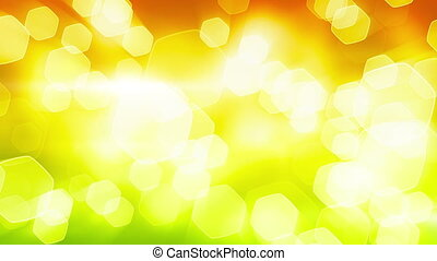 orange green shining bokeh lights. computer generated...
