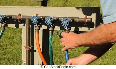 hose connection - attaching a garden hose to an irrigation...