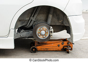 Lifting jack. - Lifting jack is used to lift the car to...