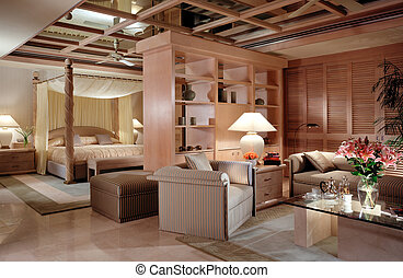 master bedroom - classic master bedroom light up with full...
