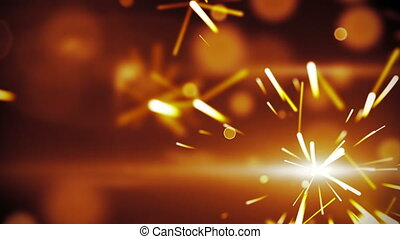 christmas sparkler closeup loop