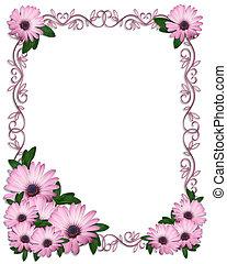 Wedding invitation Purple Daisies - Image and illustration...