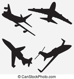 Jet Silhouettes - Here are four vector silhouettes of...