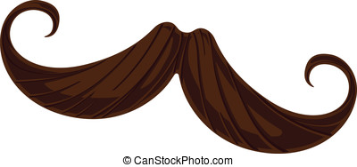 Handlebar Mustache - This is a vector illustration of a...