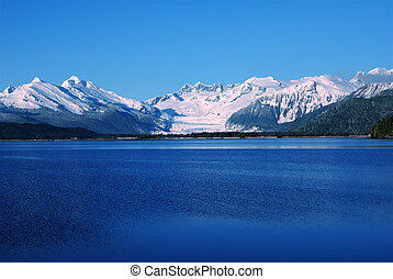 Mendenhall Glacier - The Mendenhall Glacier from the Douglas...