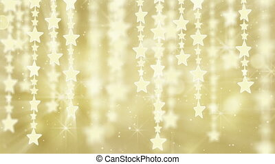 gold shiny hanging stars loop back - gold shiny hanging...