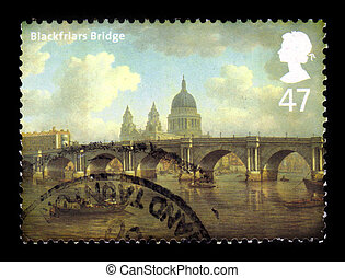 Blackfriars Bridge in London - UNITED KINGDOM - CIRCA 2002 :...
