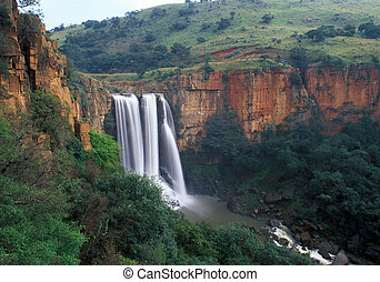 Elands River Falls in Mpumalanga state of South Africa.These...