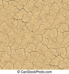 Cracked Soil. Seamless Texture. - Cracked Soil. Seamless...