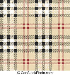 Scottish fabric illustration - Vintage scottish fabric...