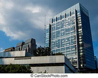 costruzione,  boston, banca