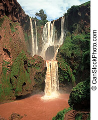 Morocco waterfall - Famous waterfall in Morocco highland