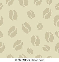 Coffee beans design set - Trendy Coffee beans seamless...