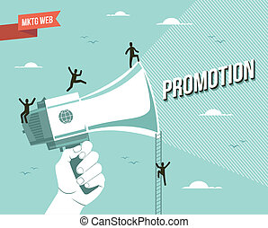 Marketing web promotion illustration - Web marketing...