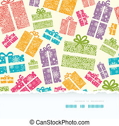 Colorful Textured Gift Boxes Horizontal Torn Seamless...