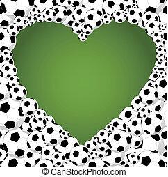 Brazil 2014 soccer balls, heart shape illustration - 2014...