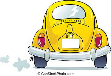 funny beetle - Yellow beetle