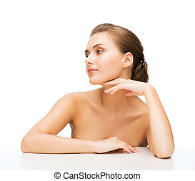 face of woman with clean perfect skin