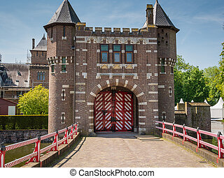 Entrance gate to Castle De Haar, The Netherlands - Gates to...